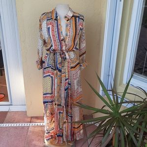 Zara NWT The Long Shirt Dress